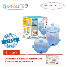 Autumnz 2-in-1 Electric Sterilizer and Food Steamer