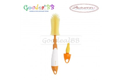Autumnz - Deluxe 2-in-1 Soft Silicone Bottle Brush