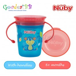 Nuby 1pk 240ml Twin Handle Printed 360 Wonder Cup