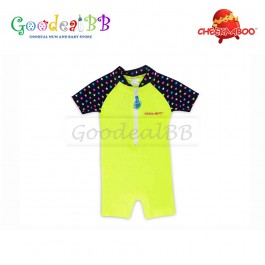 Cheekaaboo - Multi Star + Lime Baby Boy One Suit
