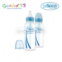 Dr. Brown's 8oz/250ml PP Narrow-Neck 'Options' Baby Bottle (2 Pack)