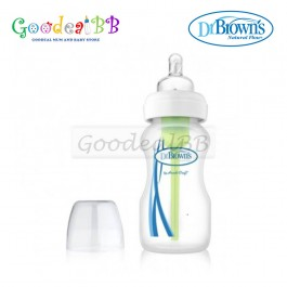 Dr. Brown's 9oz/270ml PP Wide-Neck 'Options' Baby Bottle with L2