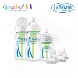 Dr. Brown's 9oz/270ml PP Wide-Neck 'Options' Baby Bottle Starter