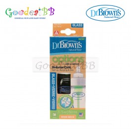 Dr. Brown's 5oz/150ml Glass Wide-Neck 'Options' Baby Bottle (1 Pack)