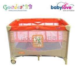 Babylove Zebra Air Travel Cot + Bassinet + Carry Bag