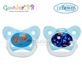Dr Brown's Prevent Butterfly Sheild Pacifier Stage 2 (6-12m) - 2 Pack