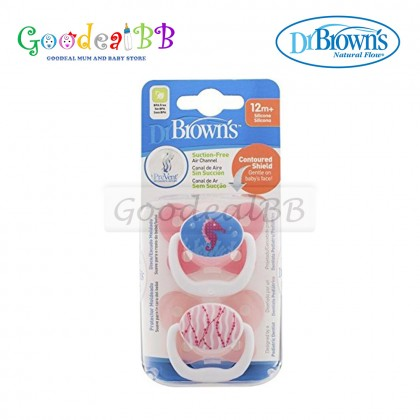 12m 6-12m Dr Browns Baby Soother Dummy Pacifier Teat Nipple 0-6m 2x Pack