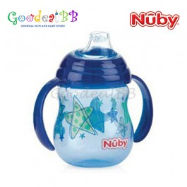 Nuby Designer Pinpoint 2 Handle Clik-it Trainer Cup With PP Cover Spout Cup