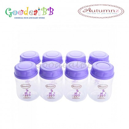Autumnz Wide Neck Breastmilk Storage Bottles 5oz (8 bottles)