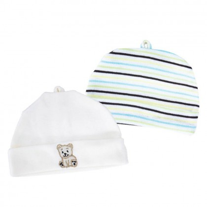 Babylove 2'S Knit Cotton Baby Hats