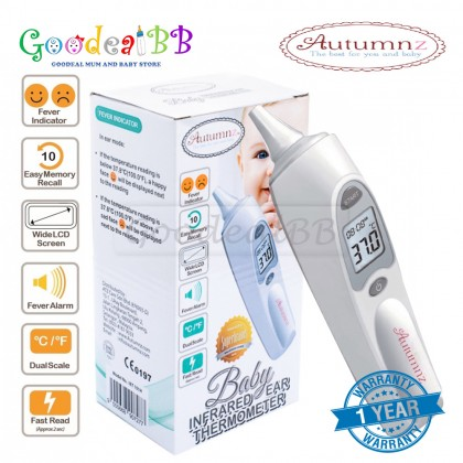 Autumnz Infrared Ear Thermometer with 10pcs Ear Probe Covers