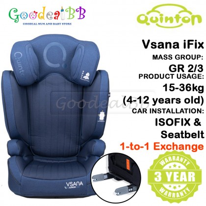 Quinton Vsana iFix ISOFIX Baby Booster Car Seat Group 2,3 (15-36kg)