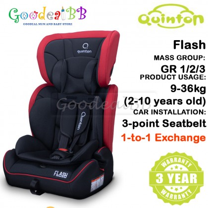 Quinton Flash Baby Booster Car Seat Group 1,2,3 (9-36kg)