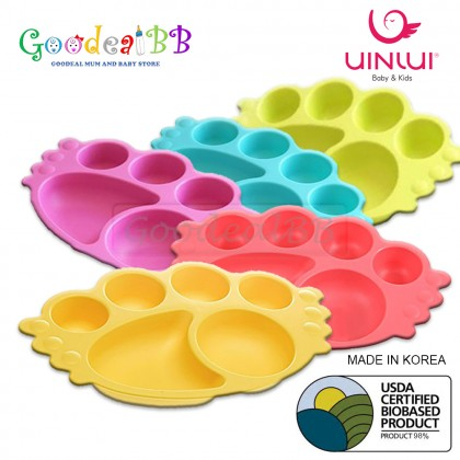 Uinlui Baby Angel Tray/ Kids Divided Plate (18+ Months)