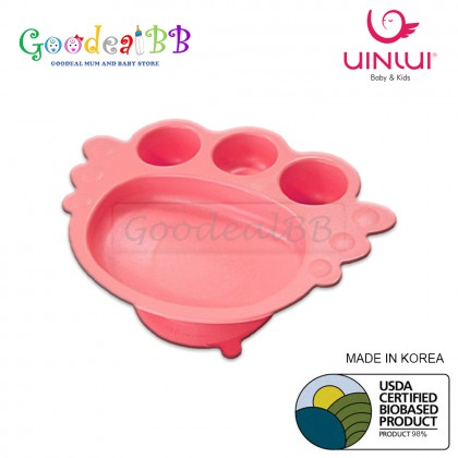 Uinlui Baby Suction Angel Tray/ Divided Plate (6+ Months)