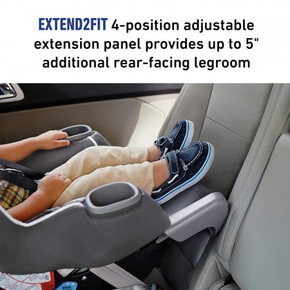Graco Extend2Fit Convertible Baby Car Seat For Newborn Up To 29kg - Davis
