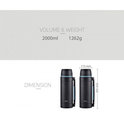 Relax D3520-08 Travelling Thermos Flask - 2 Liter Tea, Water, and Coffee Dispenser