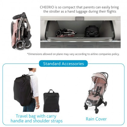 Chicco Cheerio Baby Compact Stroller / Travel Stroller With Rain Cover And Travel Bag (Birth TO 15kg)