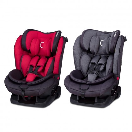 Quinton Silver Convertible Baby Safety Car Seat (Newborn - 36kg), Group 0+123 with ECE R44/04 Approved
