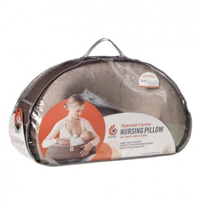 [Clearance] Ergobaby Natural Curve Nursing Pillow With Cover, Breastfeeding Pillow