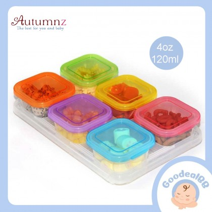 Autumnz Maxi Breastmilk And Baby Food Storage Cups 4oz - 6pcs