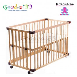 Jarrons & Co. - Happy Sleep 5-in-1 Baby Cot (Natural) *Free Foam Mattress