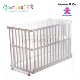 Jarrons & Co. - Happy Sleep 5-in-1 Baby Cot (White) *Free Foam Mattress