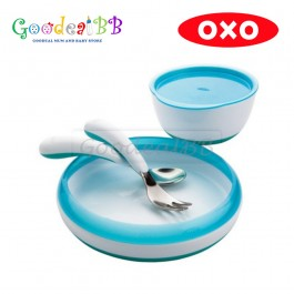 OXO Tot 4 pieces Feeding Set - Aqua