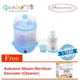 Autumnz 2-in-1 Electric Sterilizer and Food Steamer + Home And Car Warmer Combo